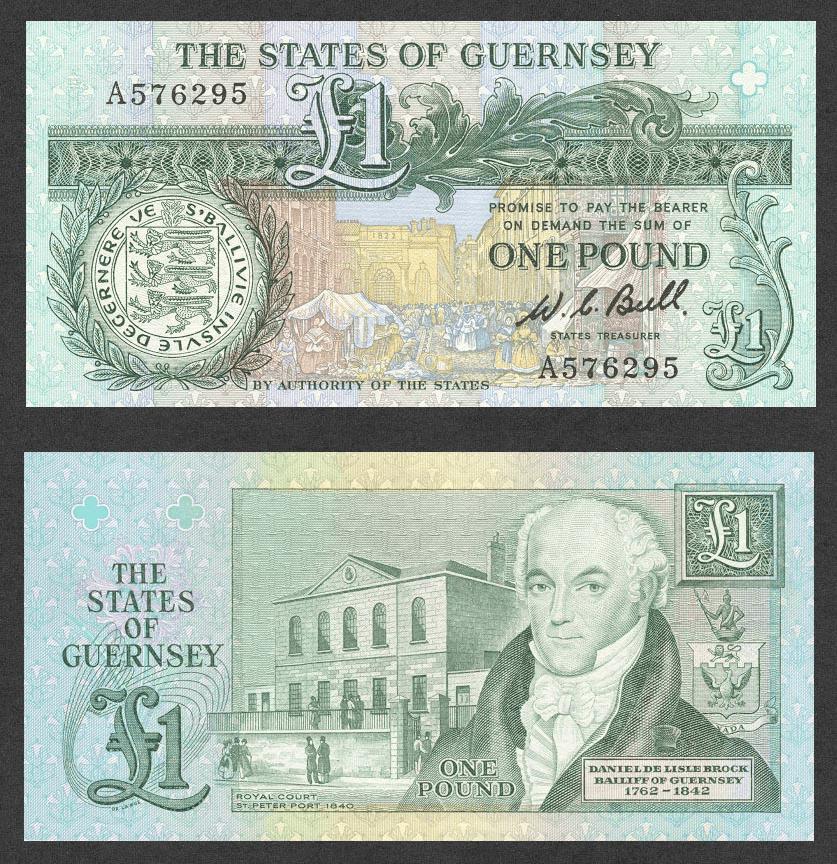 Guernsey 1 Pound Banknote, 1980, P-48a