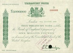 Great Britain/England 1 Million Pounds Banknote, 1948, P-361 A
