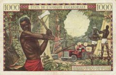 1,000 Francs Equatorial African States's Banknote