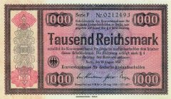 1,000 Reichsmark Germany's Banknote