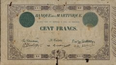Martinique 100 Francs Banknote, 1905, P-8