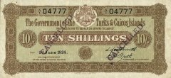 10 Shillings Turks & Caicos Islands's Banknote