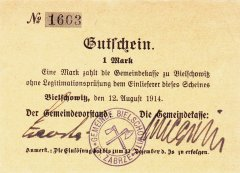 Germany/Notgeld 1 Mark Banknote, 1914, P-Die:025.7b