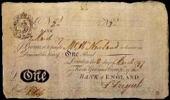 Great Britain/England 1 Pound Banknote, 1797, P-170