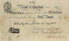 Great Britain/England 1 Pound Banknote, 1807, P-190c