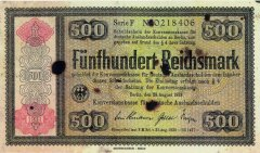 500 Reichsmark Germany's Banknote