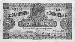 5 Shillings Leeward Islands's Banknote