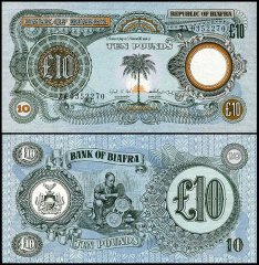 Biafra 10 Pounds, 1968, P-7a