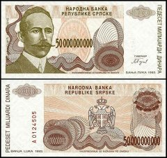 Bosnia & Herzegovina 50 Billion Dinara, 1993, P-160a