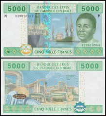 Central African States 5,000 Francs Banknote, 2002, P-309M
