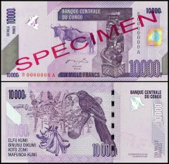 Congo Democratic Republic 10,000 Francs, 2006, P-103as