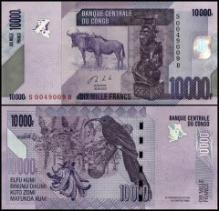 Congo Democratic Republic 10,000 Francs, 2013, P-103b