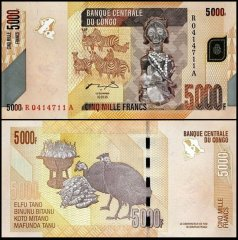 Congo Democratic Republic 5,000 Francs, 2005, P-102a