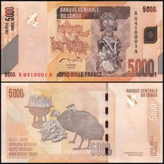 Congo Democratic Republic 5,000  Francs, 2012, P-102