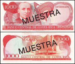 Costa Rica 1,000 Colones Banknote, ND, P-259s