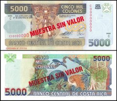 Costa Rica 5,000 Colones Banknote, 2004, P-268as