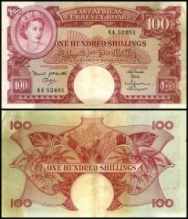 East Africa 100 Shillings Banknote, 1961, P-44a