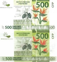 French Pacific Territories 500 Francs Banknote, 2014, P-5