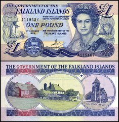 Falkland Islands 1 Pound, 1984, P-13a