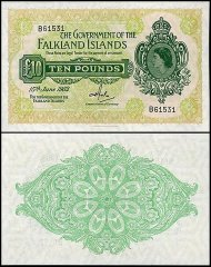 Falkland Islands 10 Pounds, 1982, P-11c