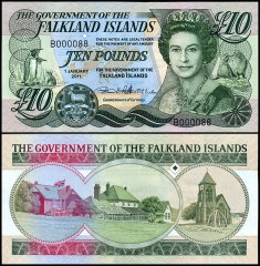Falkland Islands 10 Pounds, 2011, P-18