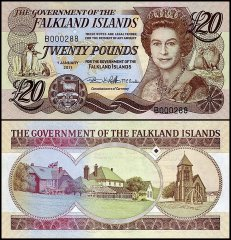 Falkland Islands 20 Pounds, 2011, P-19