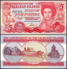 Falkland Islands 5 Pounds, 1983, P-12a