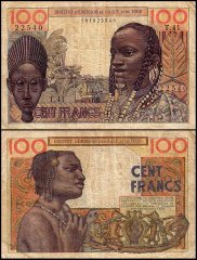 French West Africa 100 Francs, 1957, P-46a.2
