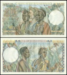 French West Africa 5,000 Francs, 1947, P-43a.4
