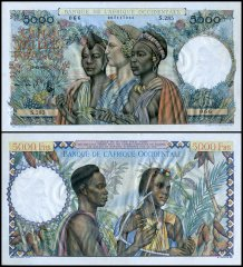 French West Africa 5,000 Francs, 1950, P-43