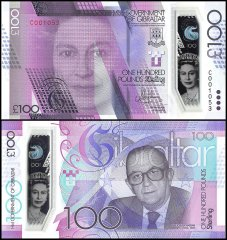 100 Pounds Gibraltar's Banknote