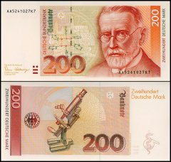 Germany 200 Deutsche Mark Banknote, 1989, P-42