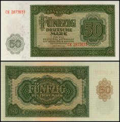 Germany 50 Deutsche Mark Banknote, 1948, P-14b