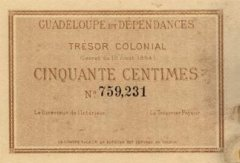 50 Centime Guadeloupe's Banknote