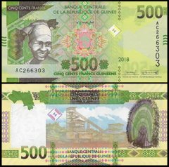 Guinea 500 Francs Banknote, 2018, P-NEW