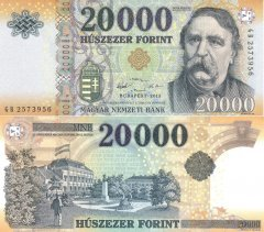 Hungary 20,000 Hungarian Forint Banknote, 2015, P-202