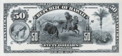 50 Dollars Hawaii's Banknote