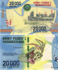 20,000 Ariary Madagascar's Banknote