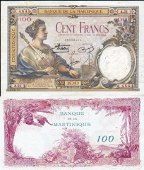 Martinique 100 Francs Banknote, 1932, P-13