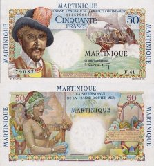 Martinique 50 Francs Banknote, 1947, P-30
