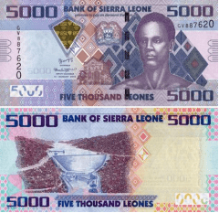 Sierra Leone 5,000 Leone Banknote, 2017, P-UNLISTED