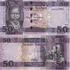 South Sudan 50 Dollars Banknote, 2017, P-14C