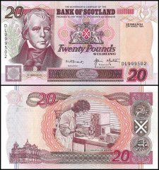 Scotland 20 Pounds, P-121c, 1999