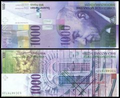 Switzerland 1,000 Francs Banknote, 2012, P-74d.1