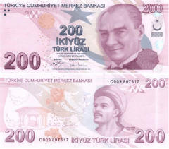 Turkey 200 Lira Banknote, 2017, P-227
