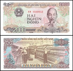 2,000 Dong Vietnam's Banknote