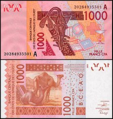 West African States 1,000 Francs, 2020, P-115At