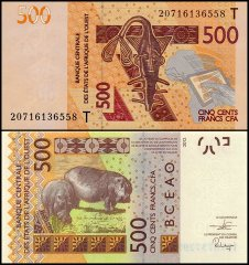 West African States 500 Francs, 2020, P-819Ti