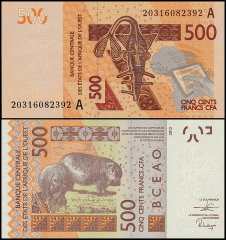 West African States 500 Francs, 2020, P-119Ai