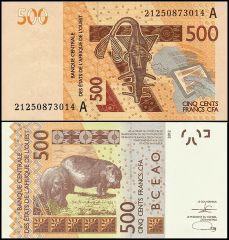 West African States 500 Francs, 2021, P-119Aj